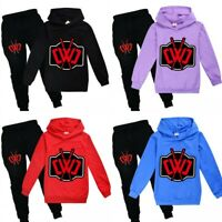 Chad Wild Clay Kids Hooded Hoodie Pants 2Pcs Sportswear Casual Outfits Tracksuit