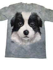The Mountain Border Collie Puppy Face Youth T-shirt New Large 14-16