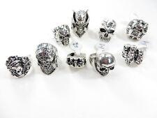 US Seller-50 rings discount gothic hippie skull death skeleton jewelry bulk