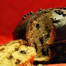 Panettone al Cioccolato di Produzione artigianale 1kg Incartato a mano
