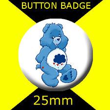 CARE BEARS -  GRUMPY BEAR -  - CULT TV - BUTTON BADGE 25mm