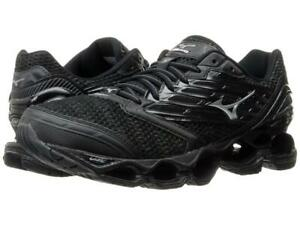 New Men's Mizuno Wave Prophecy 5 Running Shoes Size 9 Black/Silver - Last Pair
