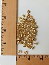 100 Yellow Gold Heart Shaped Eyelets   -  NEW