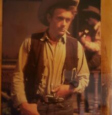 Vintage James Dean 50s picture on wood with hook actor hot guy GIANT movie 6x9