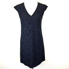 J Crew Sleeveless Lace Shift Dress Women's Size 0 Navy Blue