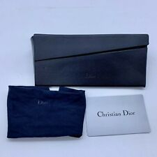 CHRISTIAN DIOR SUNGLASSES FOLDABLE CASE EYEGLASSES GLASSES CARD BLACK CLOTH