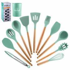 11PCS Silicone Kitchen Cooking Utensils Set Non-Stick Heat-Resistant Basting Kit