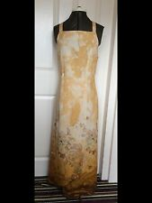 ASYMMETRICAL LINEN MIX FORAL MAXI SLEEVELESS DRESS UK 14 LOOSE FIT NEW & TAGGED