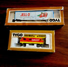 TYCO TRAIN HO 55 Ft JELLO CAR & 40ft  CABOOSE VTG IN BOXES