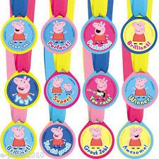 PEPPA PIG AWARD MEDALS (12) ~ Birthday Party Supplies Favors Toys Reward Nick Jr
