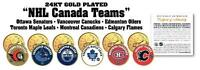 * ALL NHL CANADIAN TEAMS SET * 24K Gold CANADA Quarter 6-Coin Set