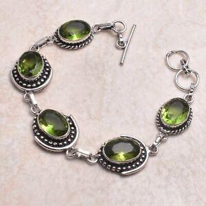 Peridot Ethnic Handmade Bracelet Jewelry 29 Gms AB 80007