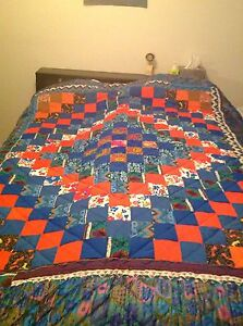 Locally Made Amish Handsewn Multicolor Trip Around The World, Double