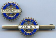 Denmark AARHUS Rotary Inner Whell Association 2 Silver Badge Pin Nice Grade !!!