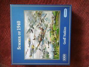 """Gibsons 1000 piece """"Summer of 1940"""" jigsaw, new"""