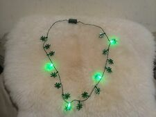 New Summer Flashing Palm Tree Necklace 8 LED Light 3 Flashing Modes