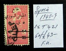 Syria 1945 Timbre Fiscal SGT421 Fine/Used NM378
