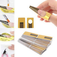 100X UV Acrylic Gel Nail Art Tips Extension Form stickers Guide French DIY Tool