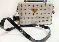 Baby Phat Purse Silver Black Patent Leather Shoulder Bag NWT Handbag