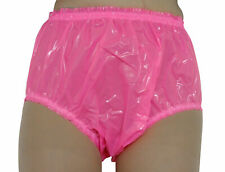 PVC Shiny Pants Knickers Panties Roleplay Hot Pink L Plastic Underwear Sissy