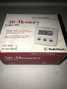 RADIOSHACK 3 LINE DISPLAY CALLER ID In Original Retail Box 50 Memory CID 936