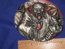 "Belt Buckle Usa. New.1994. K-77. 3-D. ""Vampire With Bloody After Bite."" Bergamot"