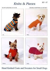 COATS AND SWEATERS KNITTING  PATTERN FOR SMALL DOGS SANDRA POLLEY DESIGN KP07