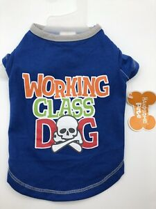 Dog Puppy Tee Shirt Handsome Pete Working Class Dog Shirt With Skull & Bones XS
