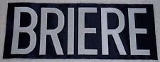 Briere 2006-07 Style Buffalo Sabres Nameplate SEWN ! Flyers Canadiens Avalanche