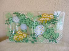 Georges Briard Glass Floral Multi-Pattern Rectangular Shaped Serving Tray