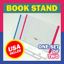 PINK AND BLUE! BRAND NEW BOOKSTANDS SET OF TWO