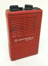 Motorola Minitor Ii Vhf Red Pager Freq 155.8190 Pager w Battery H03Umc1222Ac