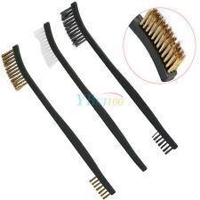 3X Quality Gun Rifle Cleaning Tool Set Kit W/  Double Ended Wire Brass Brush EB