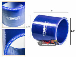 "BLUE 2.5"" 63mm 3-ply Silicone Hose Coupler Turbo Intake Intercooler For Lexus"