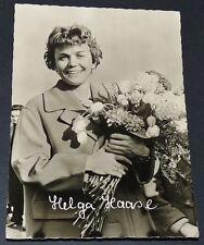 PHOTO CPA 1959 PATINEUSE DE VITESSE RDA DDR HELGA HAASE EISSCHNELLLÄUFERIN