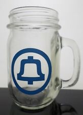 Bell Telephone 1980s Logo Mug Cup 11 oz Canning Jar Drinking Glass - 2 available