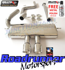 "Milltek Focus ST Cat Back Exhaust System Stainless Non Res 3"" ST250 SSXFD092"