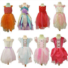 Girls Fairy Princess Fancy Dress Costume Complete with Wings
