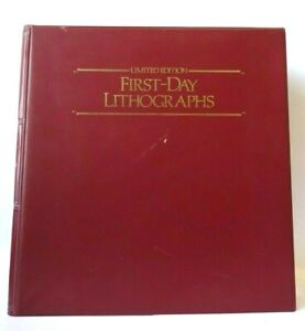 62 X First Day Stamps Lithographs Limited Edition with Folder Stunning!! VGC!