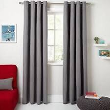 Pair of John Lewis Hatch Chenille Grey Ready Made Lined Curtains 167 W x 182cm D