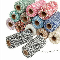 Bakers Twine Crafts String Gift Wrap Tags Ribbon 30 divine Colours  2mm*100m DIY