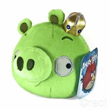 "New Angry Birds 5"" King Pig Soft Plush Toy Crown Official"