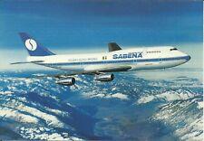 VINTAGE AIRLINE ISSUE POSTCARD SABENA BELGIAN WORLD AIRLINE BOEING 747-300