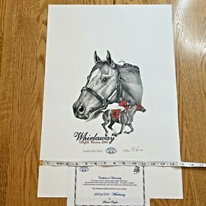 Sherrie Engler - Whirlaway Triple Crown- 228/500 LTD Horse Racing Print w/ COA