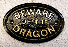 BEWARE OF THE DRAGON - HOUSE PLAQUE SIGN MOTHER-IN-LAW WIFE