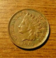 1903 U.S. Indian Head Cent, Penny, Full Liberty