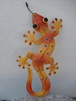 Gecko Eidechse Salamander Echse Wanddeko Metall Gartendeko Gekko Blechfigur Geko