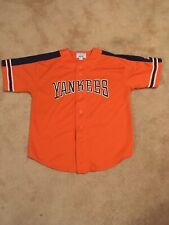 Men's Large Starter New York Yankees Orange Baseball Jersey