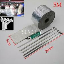 5m High Heat Insulation Fiberglass Wrap Exhaust Header Pipe Tape Cloth Silver