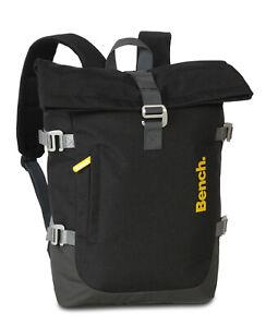 Bench Travel Roll Top Rucksack, Courier Bag, Schulrucksack, Daypack, grau
